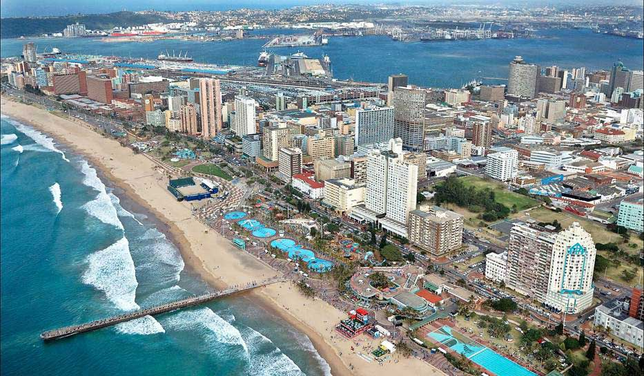 Aerial view of the city of Durban